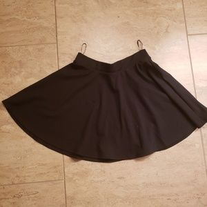Black Flair Short Skirt